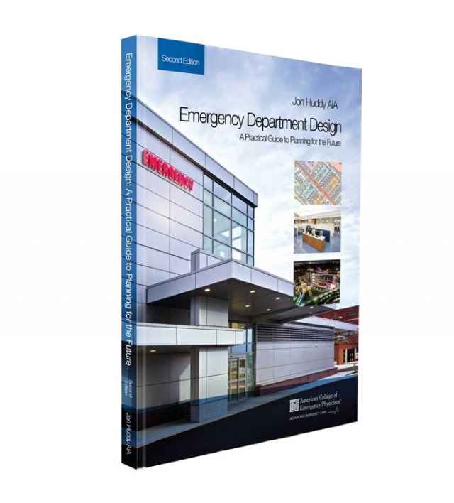 book cover for Emergency Department Design book written by Jon Huddy