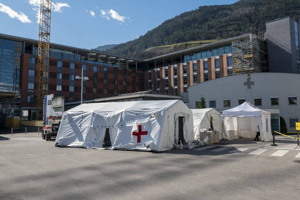 Tents Outside ER