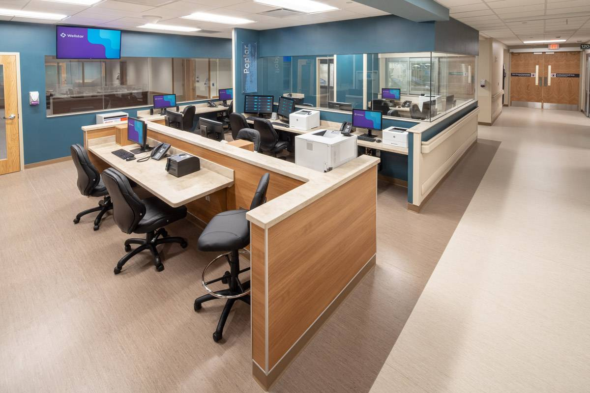 work station within Wellstar Health System