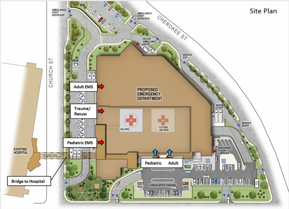 site plan for WellStar Kennestone Hospital in Marietta, Georgia