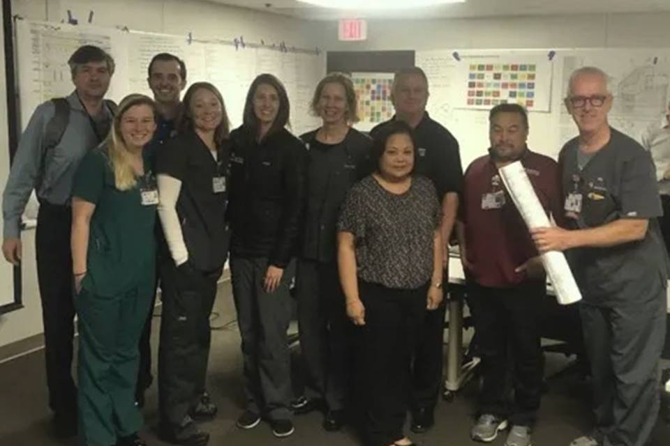 Jon Huddy with Stanford's Pediatric Emergency Department team
