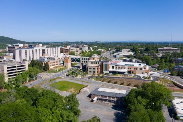 aerial view of Wellstar Health System facilities